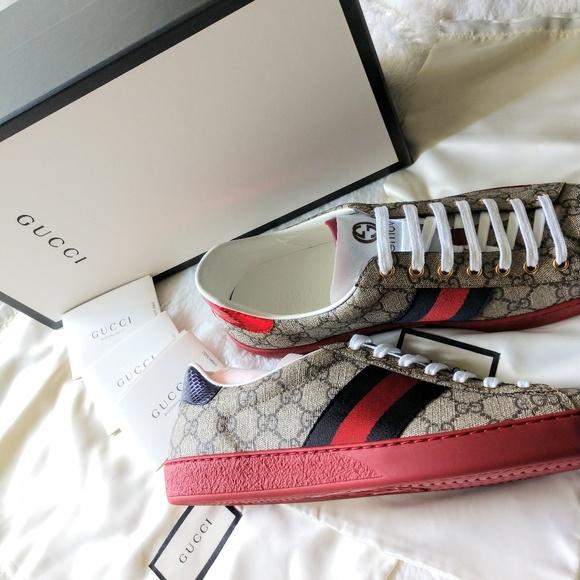 10f254914b1 🆕 Men's Gucci Ace GG Supreme Sneaker NWT